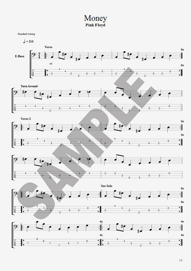 American Girl Bass Center Stage Tabs